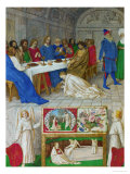 Les Heures D'Etienne Chavalier: Mary Magdalen at the Feast of Simon Giclee Print by Jean Fouquet