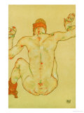 Seated Female Nude, Back View, 1915 Giclee-vedos tekijänä Egon Schiele