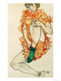 The Green Stocking, 1914 Giclee Print by Egon Schiele