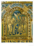 Abraham and the Three Angels, Verdun Altar, Begun 1181, Enamel Lámina giclée por  Nicholas of Verdun