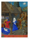 Les Heures D&#39;Etienne Chavalier: The Adoration of the Shepherds Giclee Print by Jean Fouquet