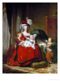 Queen Marie-Antoinette and Her Children, 1787 Giclee Print by Elisabeth Louise Vigee-LeBrun