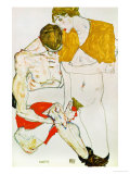 Lovers, 1913 Giclee Print by Egon Schiele