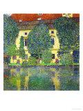 Schloss Kammer Am Attersee III (Wasserschloss), 1910 Giclée-tryk af Gustav Klimt