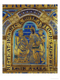 King Solomon and the Queen of Sheba, Verdun Altar, Begun 1181, Enamel Giclee Print by Nicholas of Verdun 