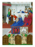 Les Heures D'Etienne Chevalier: Birth of John Baptist Giclee Print by Jean Fouquet