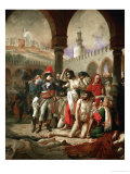 Emperor Napoleon I Bonaparte Visiting the Plague-Stricken in Jaffa Giclee Print by Antoine-Jean Gros