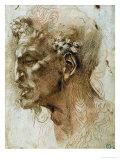 Head of a Faun Giclée-tryk af Michelangelo Buonarroti