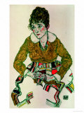 Portrait of the Artist's Wife Giclee Print by Egon Schiele