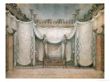 Queen Louise's Bedroom, Schloss Charlottenburg, First Design, 1809-10 Giclee Print by Karl Friedrich Schinkel