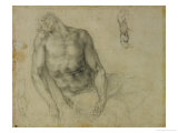 Figure of the Dead Christ and Two Studies of the Right Arm Giclee Print by  Michelangelo Buonarroti