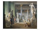La Salle Des Saisons Au Louvre, 1802-03 Giclee Print by Hubert Robert
