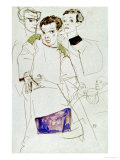 Triple Selfportrait, 1913 Giclee Print by Egon Schiele