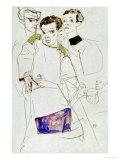 Triple Selfportrait, 1913 Giclee Print by Egon Schiele