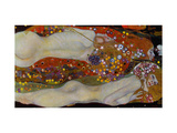 Serpientes acuticas II, 1904-07 Lmina gicle por Gustav Klimt