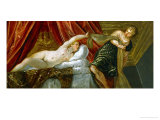 The Chastity of Joseph, Joseph and Potiphar&#39;s Wife Giclee Print by Jacopo Robusti Tintoretto