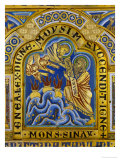 Moses Receiving the Ten Commandments, Verdun Altar, Begun 1181, Enamel Giclee Print by Nicholas of Verdun 