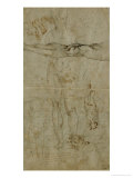 Various Figures and a Sonnet by Petrarch Giclee Print by  Michelangelo Buonarroti