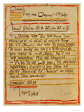 A Letter by Egon Schiele to the Sisters Edith and Adele Harms, Dec.10, 1914 Giclee Print by Egon Schiele