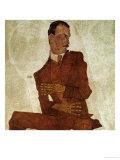 Portrait Arthur Roessler, 1910 Giclee Print by Egon Schiele