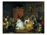 Marriage A-La-Mode: 4. The Toilette, 1743 Impression giclée par William Hogarth