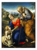 The Holy Family with a Lamb Reproduction procédé giclée par Raphael