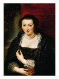 Isabella Brant, Ruben's First Wife Giclee Print by Peter Paul Rubens