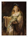 Saskia Van Ulenborch in Arcadian Costume, 1634 Giclee Print by  Rembrandt van Rijn