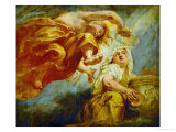Genius Crowning Religion, Sketch for the Center of the Apotheosis of King James I Giclee Print by Peter Paul Rubens