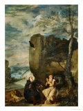 Saint Anthony Abbot and Saint Paul, the First Hermit Giclee Print by Diego Velázquez