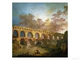 Le Pont Du Gard, 1787 Reproduction procédé giclée par Hubert Robert