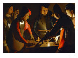 The Dice Players, circa 1650 Giclee Print by Georges de La Tour