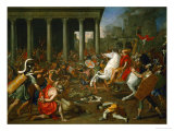 Emperor Titus Destroys the Temple in Jerusalem, 1638-1639 Giclee Print by Nicolas Poussin