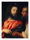 The Tribute Money: Christ and the Pharisee Give Unto Caesar Giclee Print by Titian (Tiziano Vecelli)