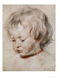 Portrait Study of His Son Nicolas, 1621 Reproduction proc&#233;d&#233; gicl&#233;e par Peter Paul Rubens
