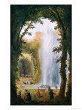 Le Jet D'Eau Du Bosquet Des Muses a Marly Giclee Print by Hubert Robert