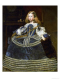 The Infanta Margarita Teresa (1651-1673) in a Blue Dress Gicléedruk van Diego Velázquez