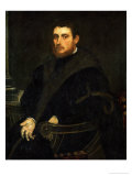 Young Man with a Red Beard in an Armchair, 1558-1562 Giclee Print by Jacopo Robusti Tintoretto