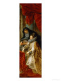 Infanta Isabella Clara Eugenia with Saint Elisabeth of Hungary Giclee Print by Peter Paul Rubens