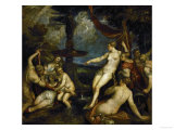 Diana and Callisto Giclee Print by Titian (Tiziano Vecelli) 