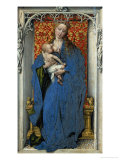 Saint Mary Nursing the Child, Left Wing of a Diptych Giclee Print by Rogier van der Weyden