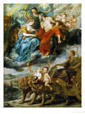 The Meeting of Henry IV and Maria De' Medici at Lyon on November 9, 1600 Giclee Print by Peter Paul Rubens
