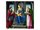 Madonna and Child Surrounded by Saint Julian and Saint Nicholas of Myre, Before 1494 Giclee Print by Lorenzo di Credi