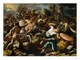 Joshua's Victory Over the Amorites, 1624 Giclee Print by Nicolas Poussin