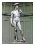 David: Frontal View Giclee Print by Michelangelo Buonarroti 