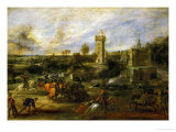 The Tournament (Near the Moat of the Castle of Steen) Giclee Print by Peter Paul Rubens