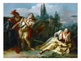 Rinaldo Leaves Armida, from Torquato Tasso's Poem Gerusalemme Liberata Giclee Print by Giovanni Battista Tiepolo