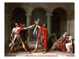 The Oath of the Horatii Giclée-tryk af Jacques-Louis David