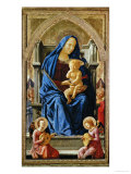 Pisa-Polyptych: The Virgin with the Infant Jesus and Angels, 1426 Giclée-tryk af Masaccio