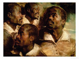 Studies of the Head of a Black Man Giclee Print by Peter Paul Rubens